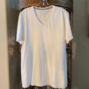 Banana Republic Soft Wash V-Neck White T-Shirt